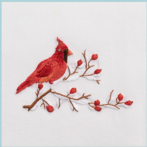 Henry Handwork Cardinal Hand Towel