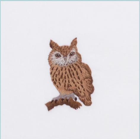 Henry Handwork Owl Hand Towel