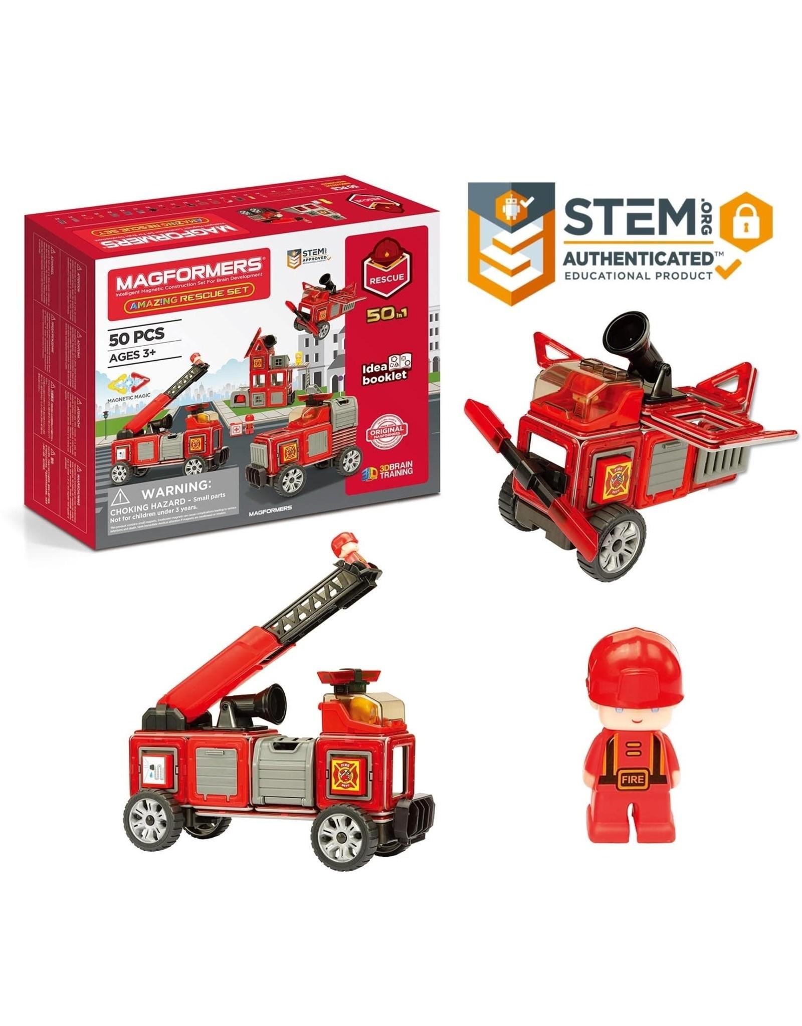magnatiles Magformers Rescue 50pc