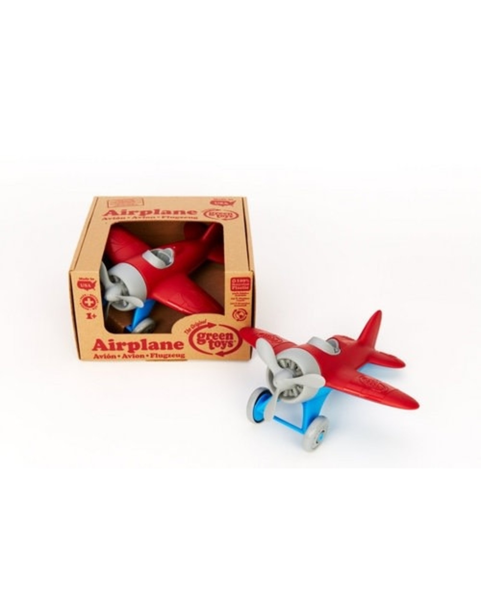 green toys Airplane - Red wing