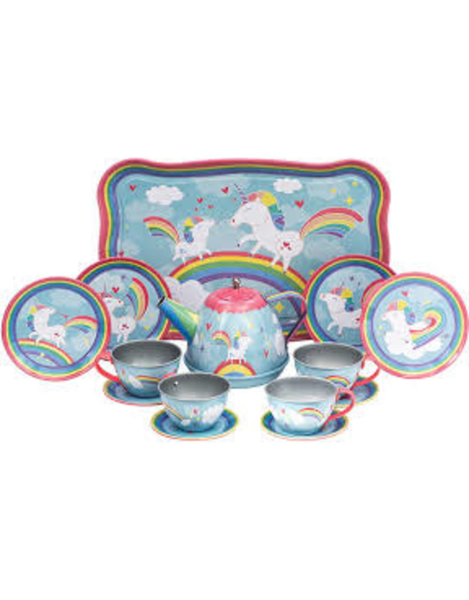 schylling Unicorn Tin Tea Set utts schylling
