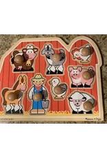 melissa & doug Jumbo Knob  Farm  friends 3391