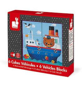 janod KUBKID -Vehicle  Animal Block Puzzle