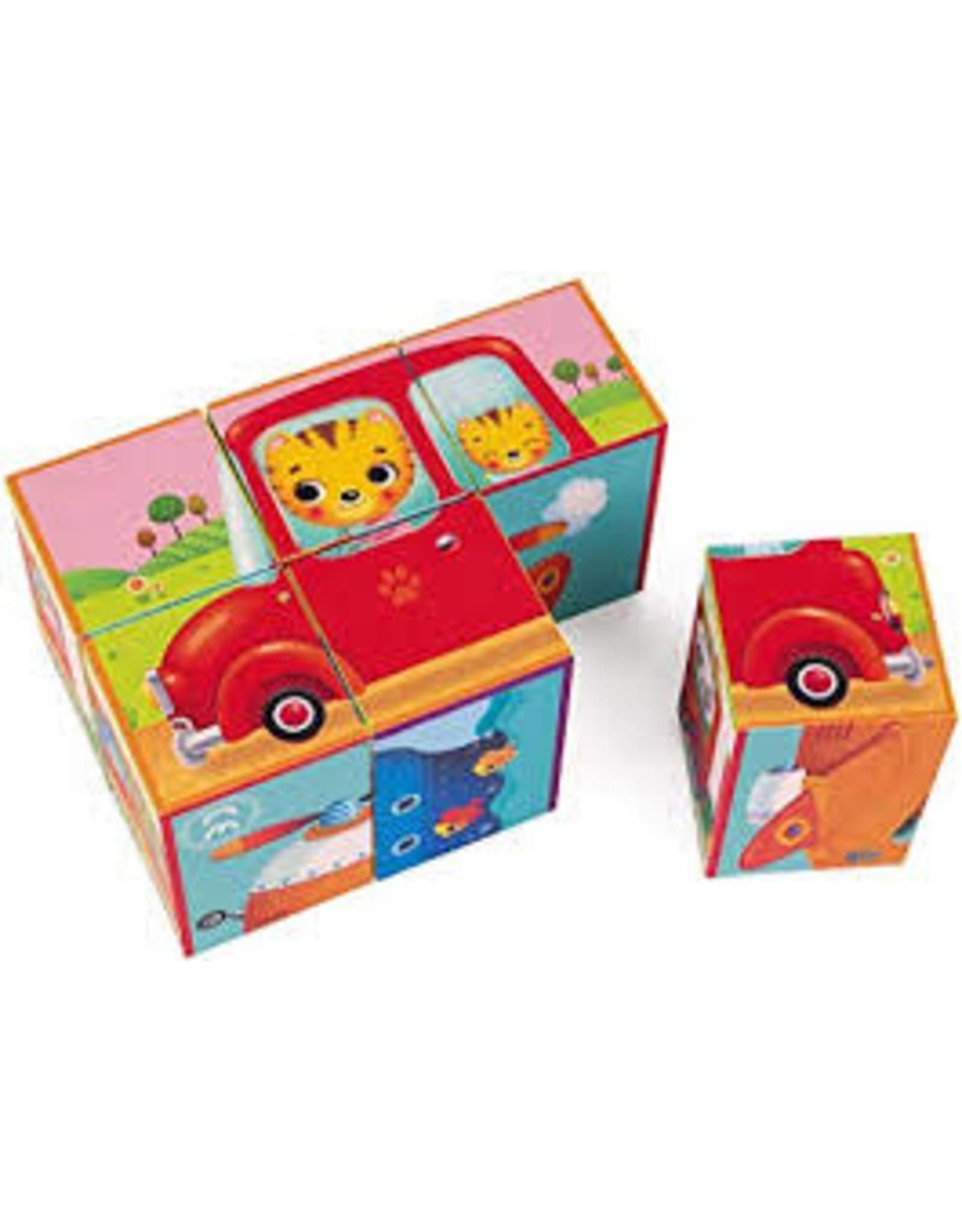 janod KUBKID - vehicle  anim block puzz J02734