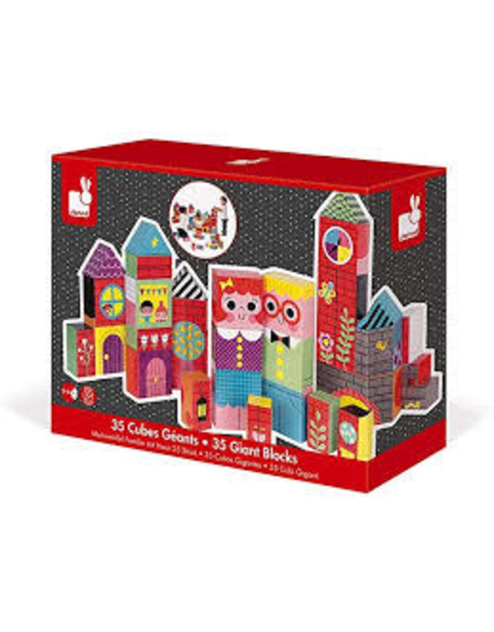 janod kubkid j02735 giant castle blocks
