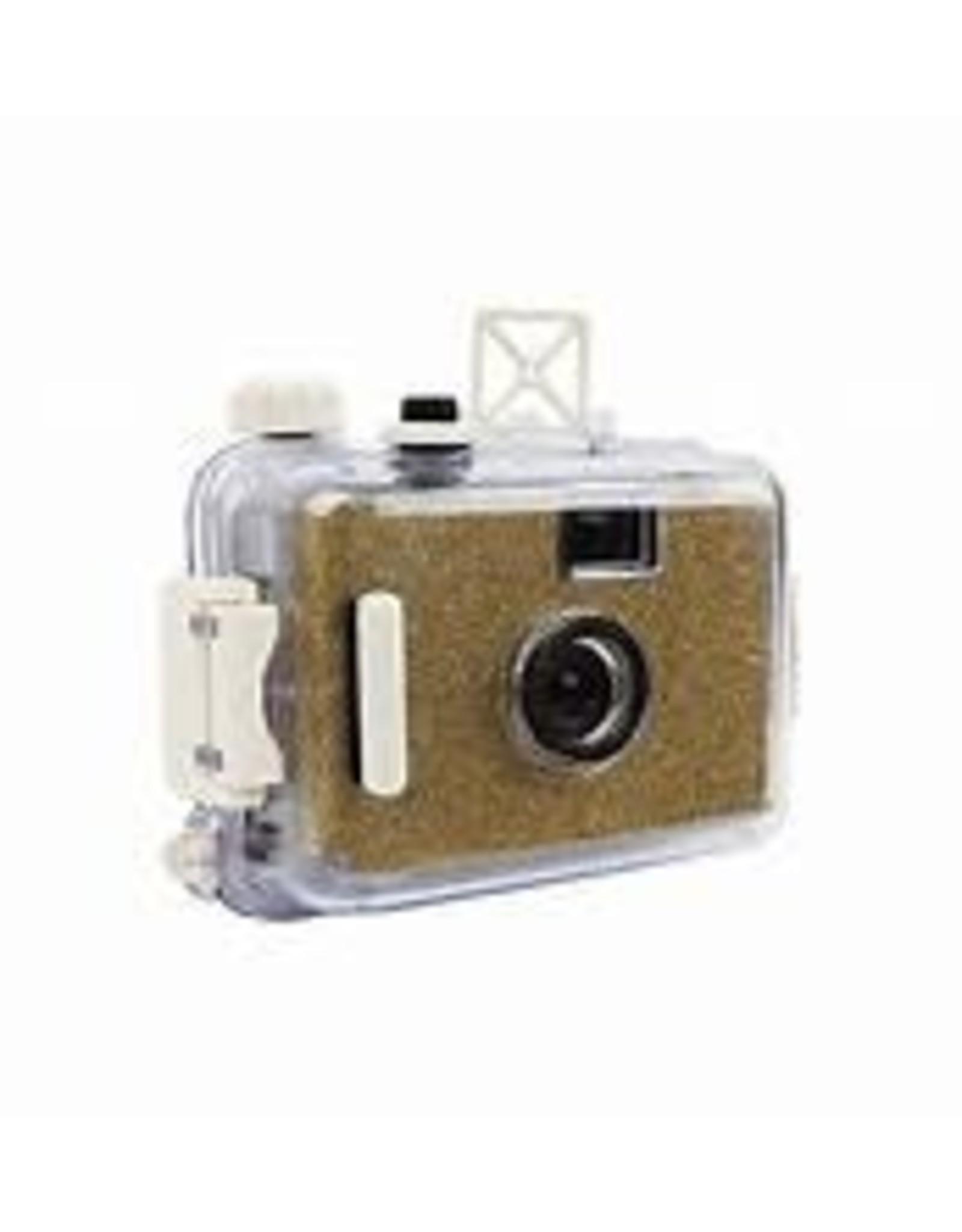 glitter gold underwater camera