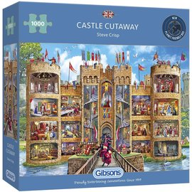Gibsons Puzzle: 1000 Castle Cutaway