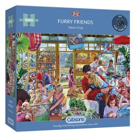 Gibsons Puzzle: 1000 Furry Friends