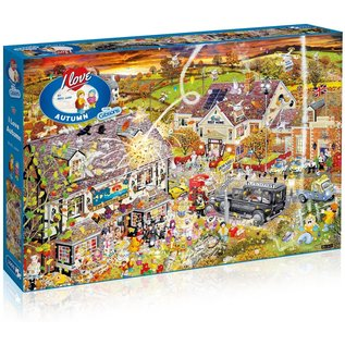 Gibsons Puzzle: 1000 I Love Autumn