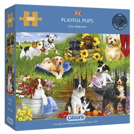 Gibsons Puzzle: 500 Playful Pups