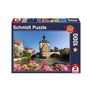 Schmidt Puzzle: 1000 Bamberg, Regnitz and Old Town hall