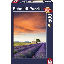 Schmidt Puzzle: 500 Field of Lavender, Provence