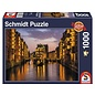 Schmidt Puzzle: 1000 Hamburg – Nightfall in the Warehouse District