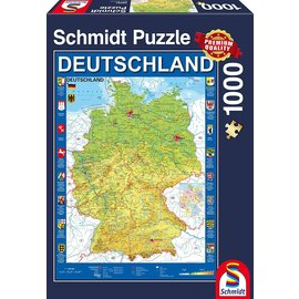 Schmidt Puzzle: 1000 Map of Germany