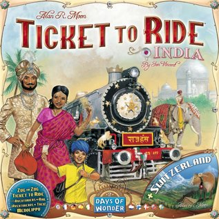 Ticket to Ride: Map Collection: Volume 2 - India & Switzerland