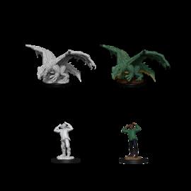 D&D Nolzurs Marvelous Unpainted Miniatures: Wave 11: Green Dragon Wyrmling & Afflicted Elf