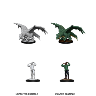 D&D Nolzurs Marvelous Unpainted Miniatures: Wave 11: Green Dragon Wyrmling & Afflicted Elf