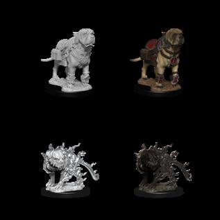 D&D Nolzurs Marvelous Unpainted Miniatures: Wave 11: Mastif & Shadow Mastif