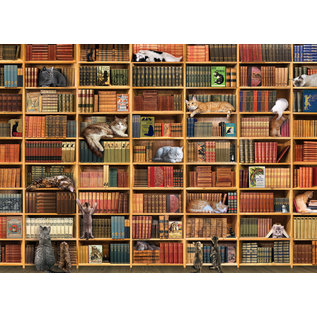 Cobble Hill Puzzle: 1000 The Cat Library