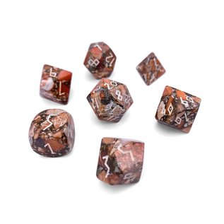 Norse Foundry Gemstone Dice: Bronze Orange Imperial Jasper