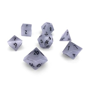 Norse Foundry Gemstone Dice: Clear Cat's Eye