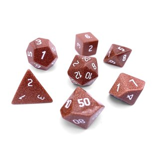 Norse Foundry Gemstone Dice: Gold Sandstone