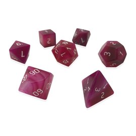 Norse Foundry Gemstone Dice: Pink Striped Agate