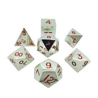 Norse Foundry Metal Dice: Lycanthrope Silver