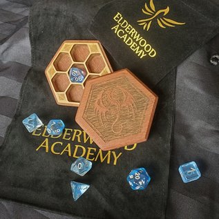 Elderwood Academy Hex Chest Remastered: Winged Dragon, Leopardwood