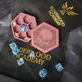 Elderwood Academy Hex Chest: Skull, Purpleheart