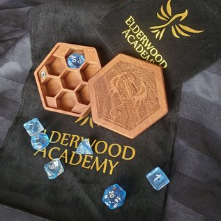 Elderwood Academy Hex Chest: Winged Dragon, Mahogany