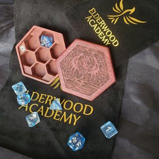 Elderwood Academy Hex Chest: Winged Dragon, Purpleheart