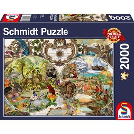 Puzzle: 2000 Exotic World Map