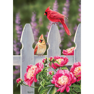 Puzzle: 1000 Cardinals and Peonies