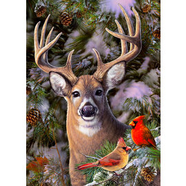 Cobble Hill Puzzle: 500 One Deer Two Cardinals