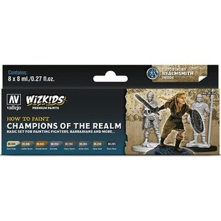Vallejo: Wizkids Premium Paint Set Champions of the Realm