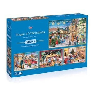 Puzzle: 500 Magic of Christmas (4  Puzzles)