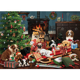 Puzzle: 500 Christmas Puppies