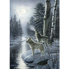 Puzzle: 1000 Wolves by Moonlight