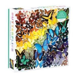 Galison Puzzle: 500 Rainbow Butterflies