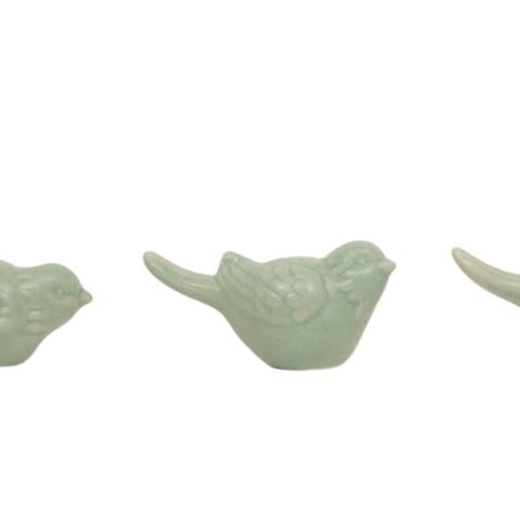 Ceramic Bird, Aqua, 3 Styles