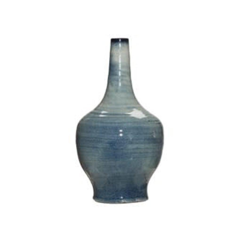 Blue Terra Cotta Vase, Large