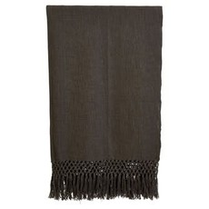 Woven Cotton Throw,  Charcoal