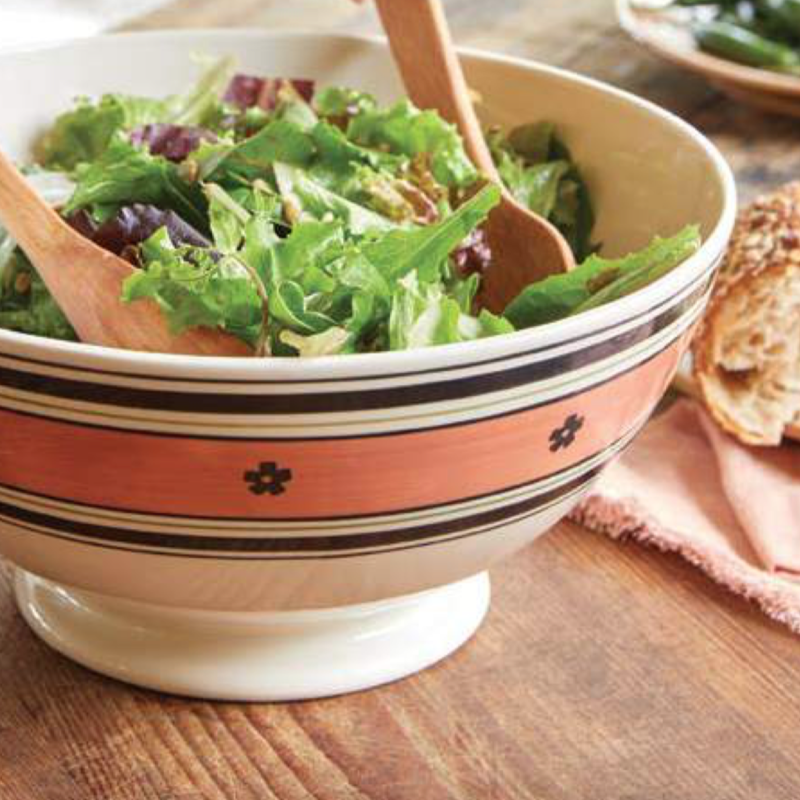 Hand Painted Serving Bowl, Grey