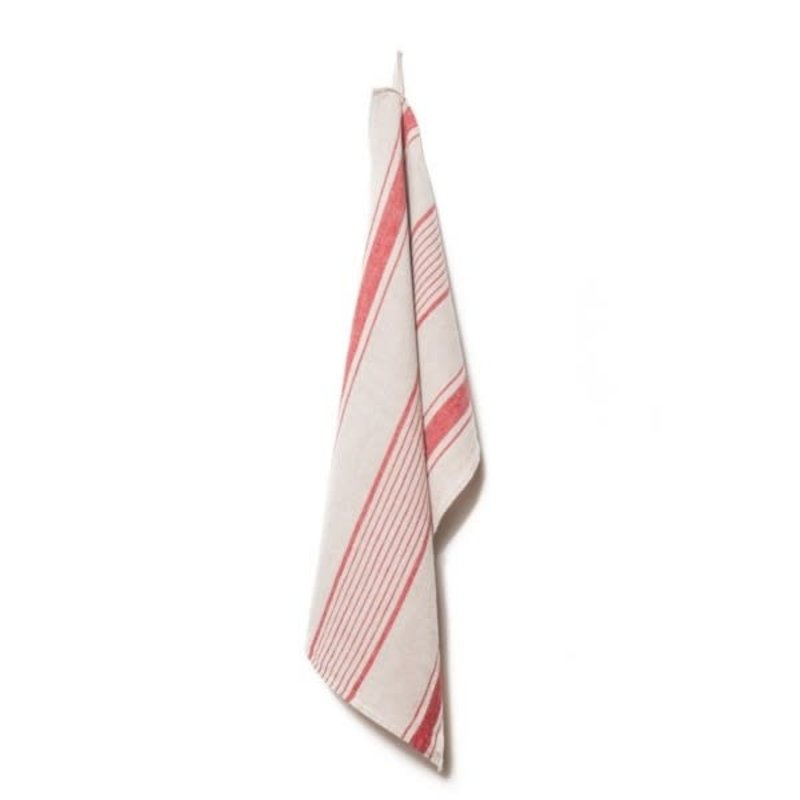 Kitchen towel, aubagne natural/rouge