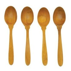 Teak Coffee Spoons, Set of 4