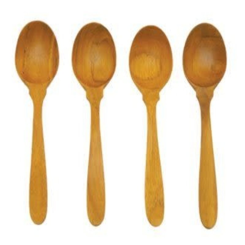 Teak Coffee Spoons, Set of 4