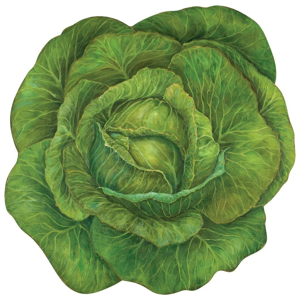 Die cut cabbage placemat