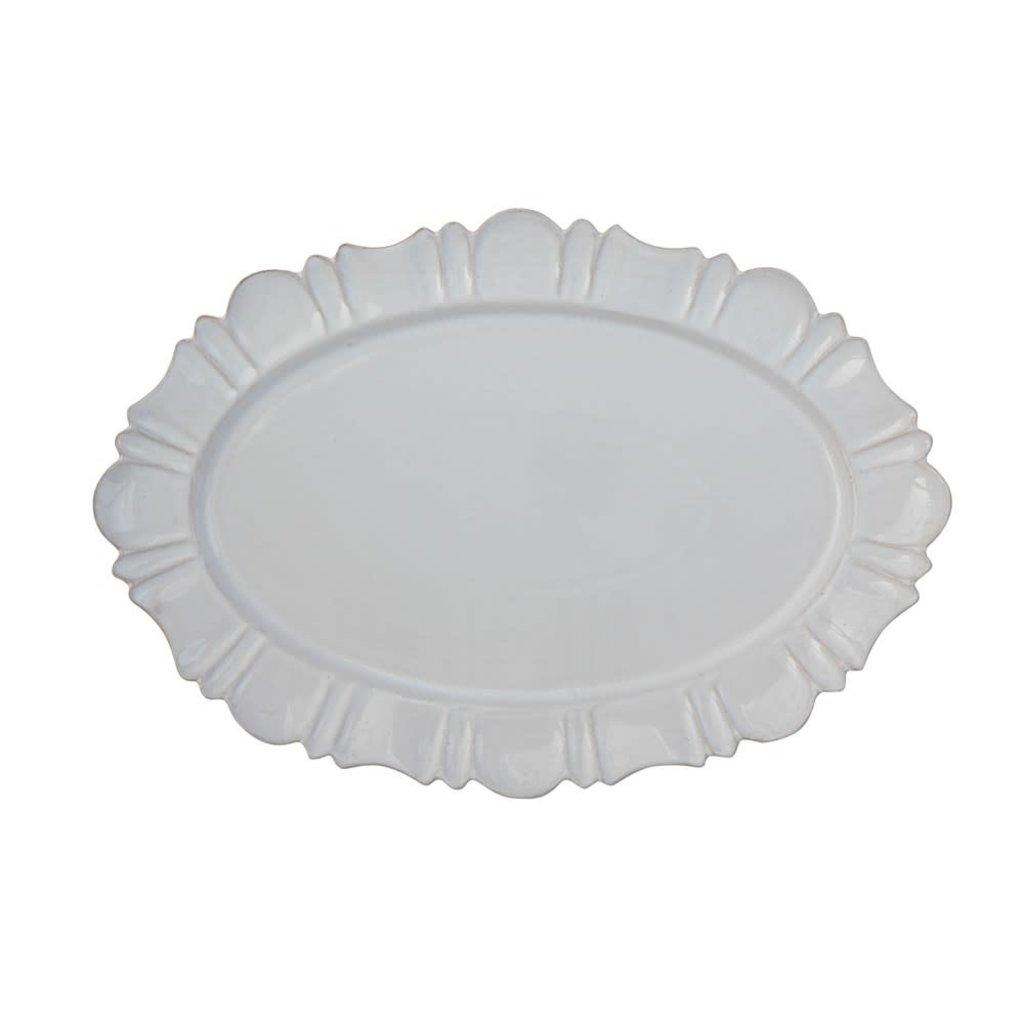Terra cotta Platter, White
