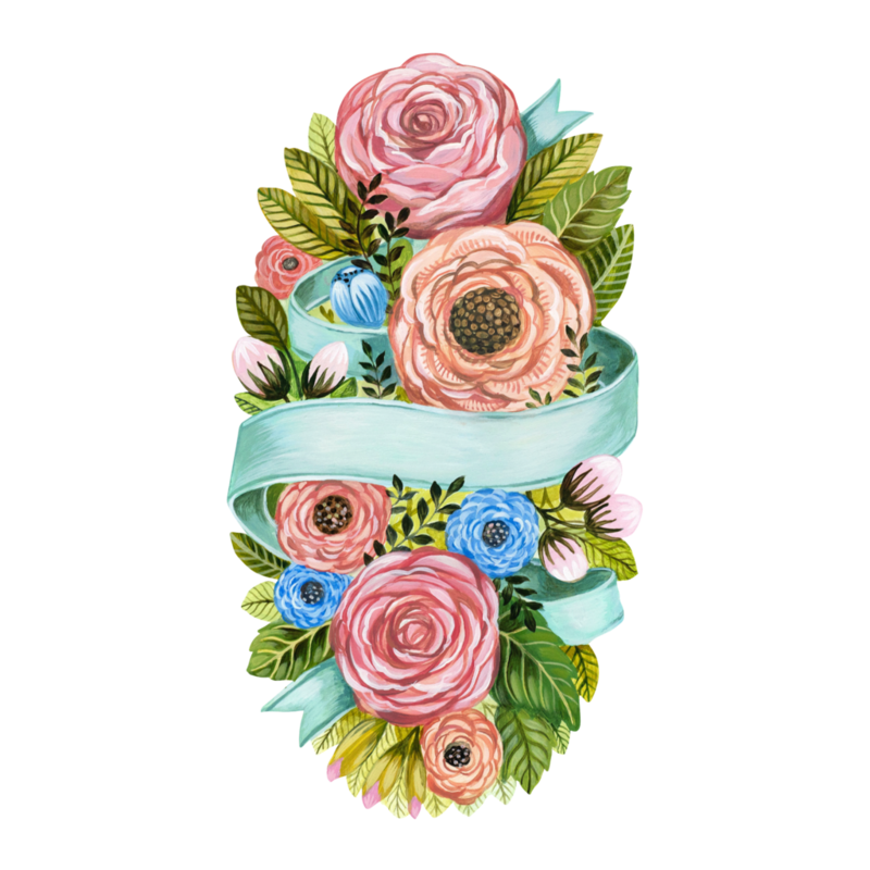 LPM Spring floral table accent